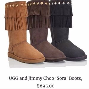 Authentic JIMMY CHOO Chocolate Sora Boots